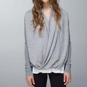 Lululemon Iconic Sweater Wrap Heathered Grey